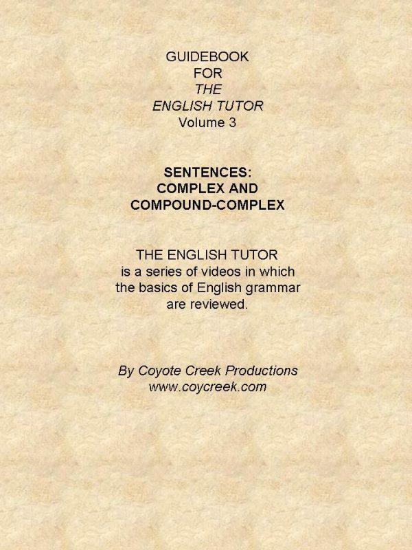 ETSG3 The English Tutor - Vol 3 Study Guide