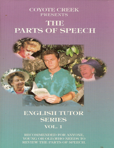 The English Tutor: Vol 1, The Parts of Speech
